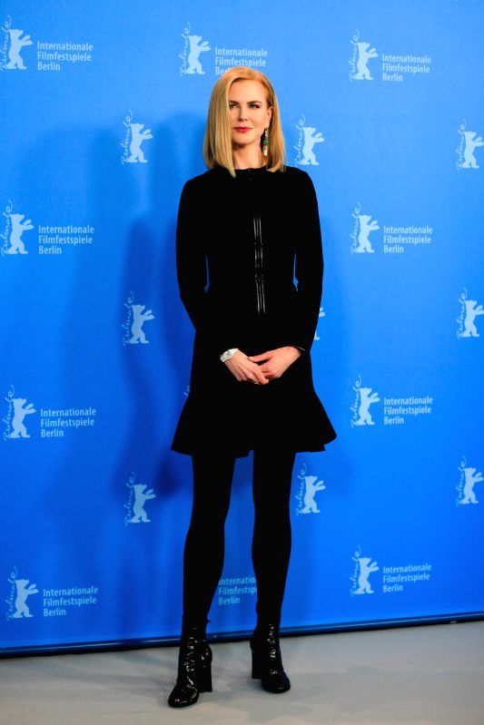 "Nicole Kidman poses for photos during a photocall to promote the movie ""Queen of the Desert"" at the 65th Berlinale International Film Festival in Berlin, ..."