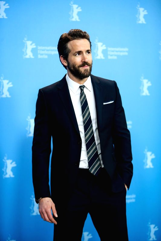 """Ryan Reynolds poses for photos during a photocall for the promotion of the movie """"Woman in Gold"""" at the 65th Berlinale International Film Festival in ..."""