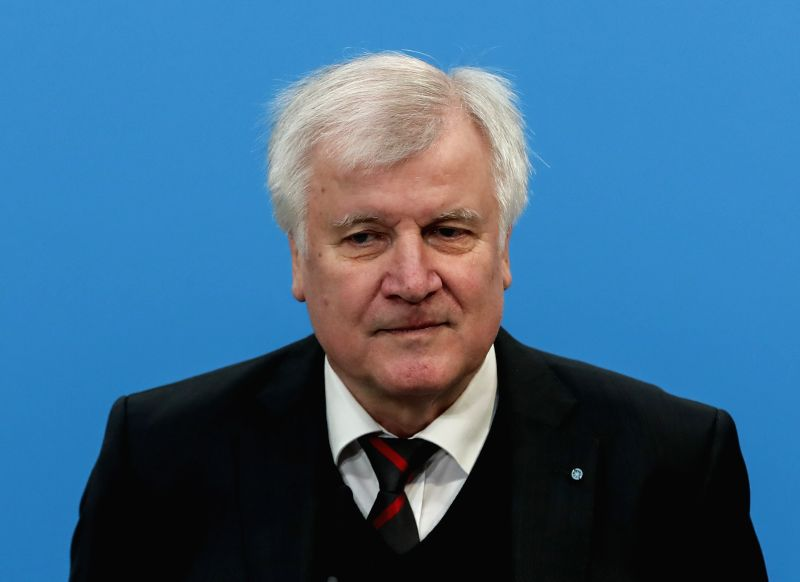 BERLIN, Jan. 26, 2018 - er of German Christian Social Union (CSU) Horst Seehofer delivers a speech before the start of coalition talks at the Christian Democratic Union (CDU) party headquarters ...