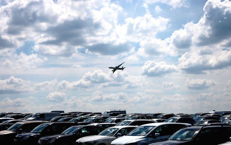 BERLIN, June 4, 2016 - Airbus A-350 airliner flies over a parking area as it performs during the 2016 ILA Berlin Air Show in Berlin, Germany, on June 3, 2016. The 4-day ILA exhibition kicked off on ...