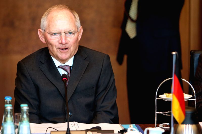 German Finance Minister Wolfgang Schaeuble speaks during the China-Germany High Level Financial Dialogue in Berlin, capital of Germany, on March 17, 2015. Germany ... - Wolfgang Schaeuble
