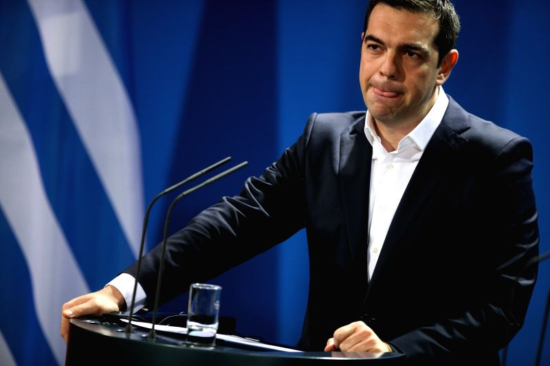 Greek Prime Minister Alexis Tsipras attends a press conference after his meeting with German Chancellor Angela Merkel at the Chancellery in Berlin, Germany, on ... - Alexis Tsipras