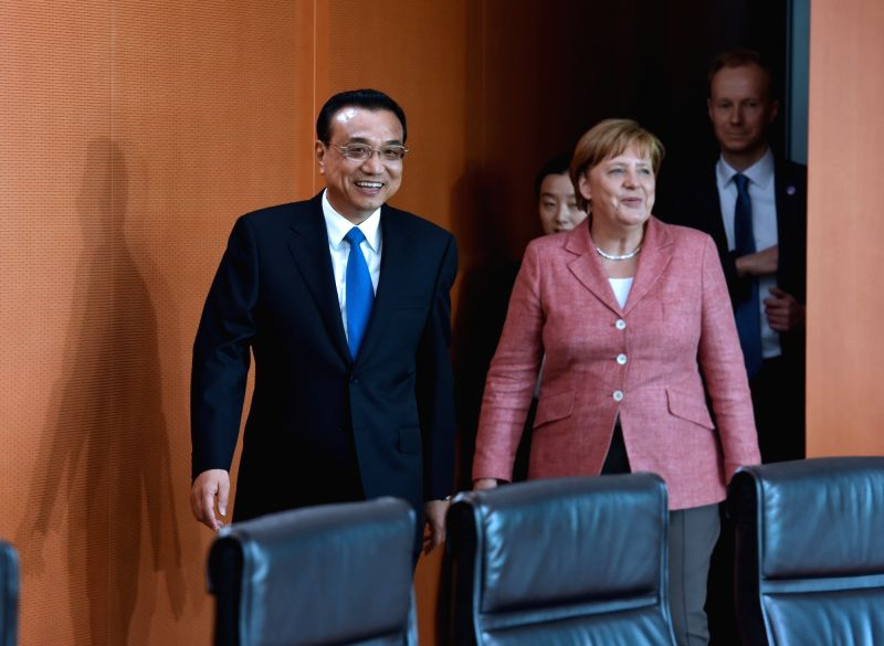 BERLIN, May 31, 2017 - Chinese Premier Li Keqiang holds talks with German Chancellor Angela Merkel during an annual meeting between the heads of the two countries' governments in Berlin, capital of ...