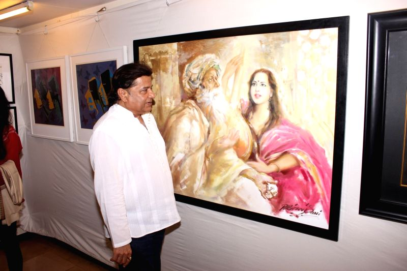 Bhajan singer Anup Jalota during the inauguration of a art exhibition, in Mumbai on May 27, 2016.