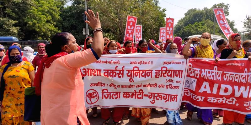 Bharat Bandh: No significant impact in Gurugram, Asha workers extend support.