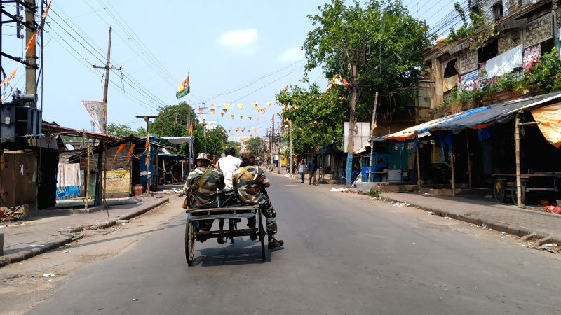 Bhatpara: Section 144 was invoked by the Election Commission for an indefinite period in parts of Kankinara area under the Bhatpara Assembly constituency which was on the boil following violence and political clashes during by-elections on Sunday; in