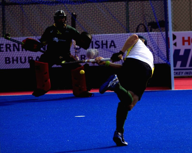Bhubaneswar: Australian players in action during a practice session of Hero Men`s Champions Trophy 2014 at Kalinga Stadium in Bhubaneswar on Dec 5, 2014.