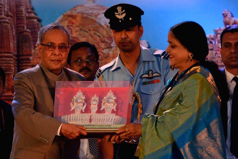 President Pranab Mukherjee during inauguration of Golden Jubilee Celebrations at Rama Devi Women's Autonomous College in Bhubaneswar, on Nov 30, 2014.(Photo : IANS/RB) - Pranab Mukherjee
