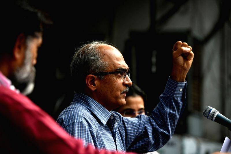 Bhushan pays Re 1 fine, files review plea against conviction. (Photo: IANS)