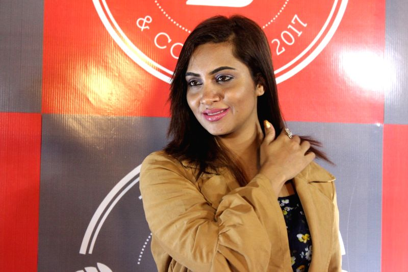 Bigg Boss 11 Contestant Arshi Khan during a programme in Mumbai on Feb 1, 2018. - Arshi Khan
