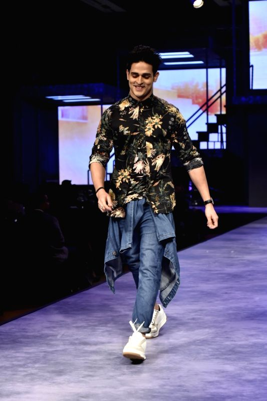 Bigg Boss 11 contestant Priyank Sharma walks the ramp for fashion brand Vero Moda at AW'18 collection in Mumbai on Aug 8, 2018. - Priyank Sharma