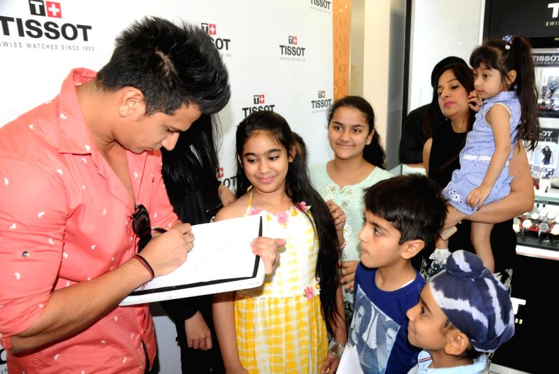 Bigg Boss 9 winner Prince Narula during the launch of product in Amritsar on May 26, 2016.