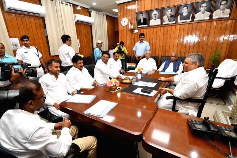 Bihar Assembly Speaker Vijay Kumar Choudhary during an all party meeting ahead of Monsoon Session in Patna on July 18, 2018. - Vijay Kumar Choudhary