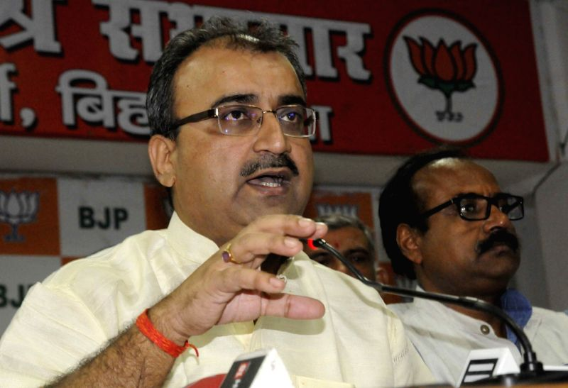 Bihar BJP chief Mangal Pandey during a press conference in Patna, on May 20, 2016. - Mangal Pandey