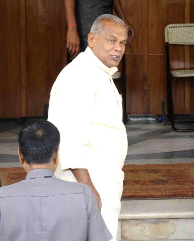 Bihar Chief Minister Jitan Ram Majhi arrives at Bihar Legislative Assembly in Patna on July 9, 2014. - Jitan Ram Majhi