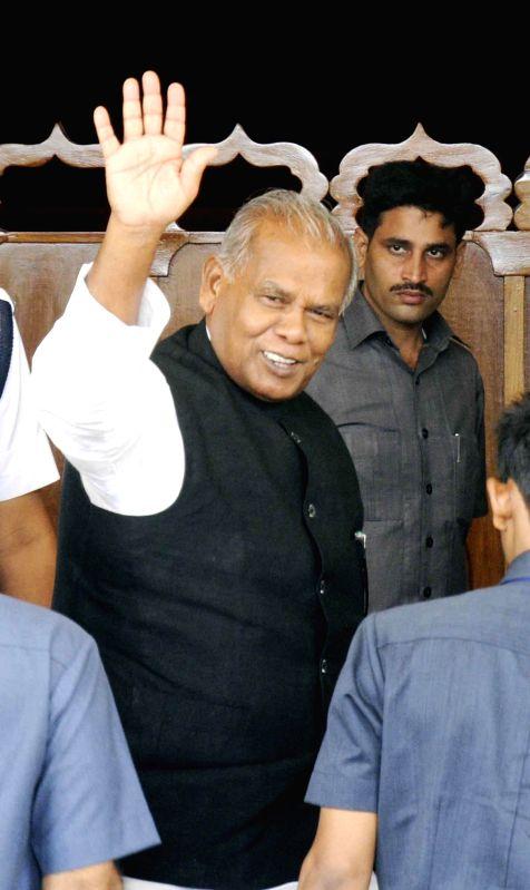 Bihar Chief Minister Jitan Ram Majhi arrives at Bihar Legislative Assembly in Patna on July 16, 2014. - Jitan Ram Majhi