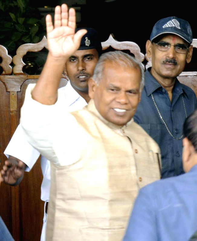 Bihar Chief Minister Jitan Ram Majhi arrives at Bihar Legislative Assembly in Patna on July 17, 2014. - Jitan Ram Majhi