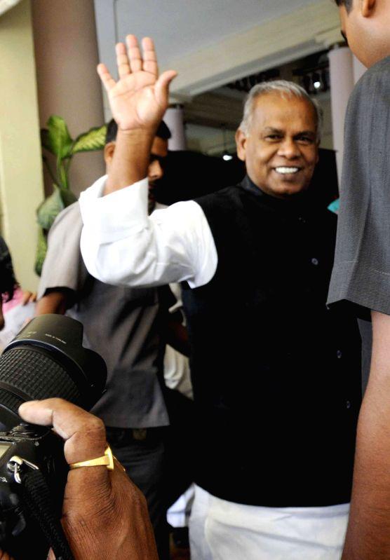 Bihar Chief Minister Jitan Ram Majhi arrives at Bihar Legislative Assembly in Patna on July 21, 2014. - Jitan Ram Majhi