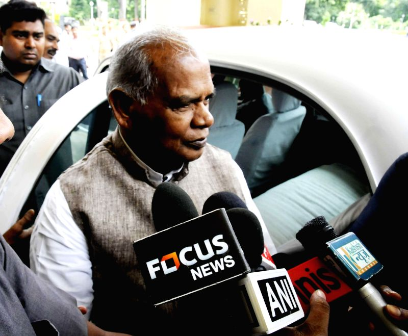 Bihar Chief Minister Jitan Ram Majhi arrives at Bihar Legislative Assembly in Patna on July 23, 2014. - Jitan Ram Majhi