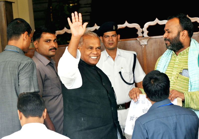 Bihar Chief Minister Jitan Ram Majhi arrives at Legislative Assembly in Patna on August 1, 2014. - Jitan Ram Majhi