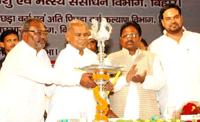 Bihar Chief Minister Jitan Ram Majhi during a programme organised in Patna on July 10, 2014. - Jitan Ram Majhi