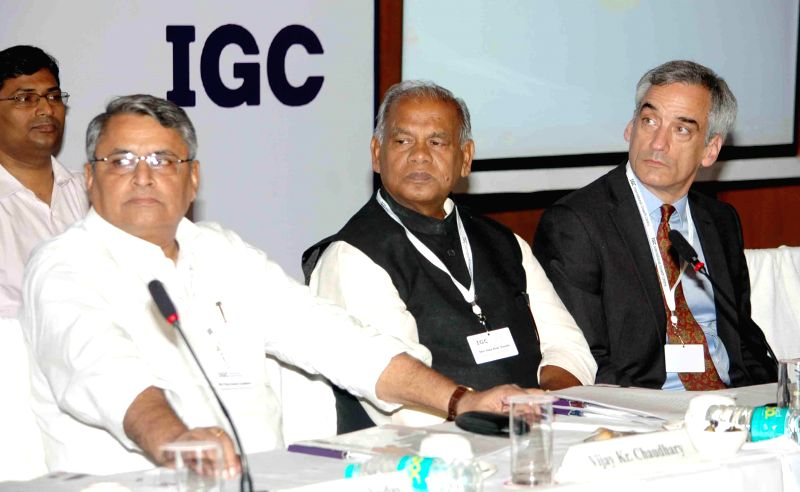 Bihar Chief Minister Jitan Ram Majhi during Bihar Growth Conference organised by International Growth Centre in Patna on July 19, 2014. - Jitan Ram Majhi