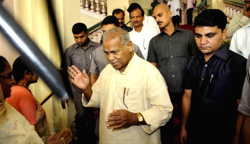 Bihar Chief Minister Jitan Ram Majhi during by-elections for two Rajya Sabha seats from Bihar in Patna on June 19, 2014. - Jitan Ram Majhi