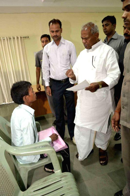 Bihar Chief minister Jitan Ram Manjhi during Janta Darbar in Patna on June 17, 2014.