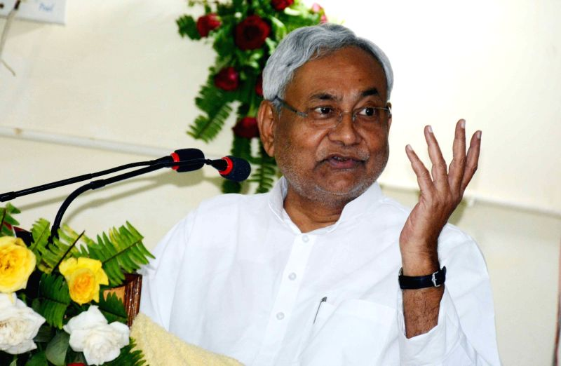 Bihar Chief Minister Nitish Kumar addresses during the 49th National Conference on Immortal Memories: Conservation and Management in Patna on Sept 13, 2017. - Nitish Kumar
