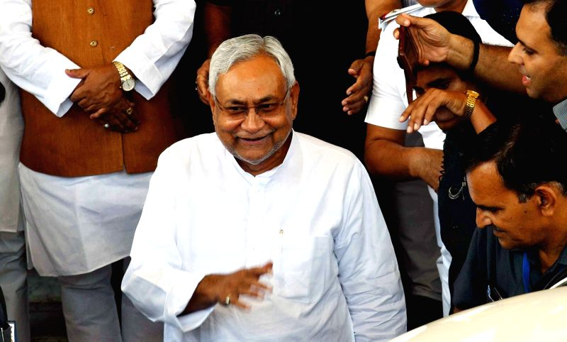 Bihar Chief Minister Nitish Kumar arrives at state assembly in Patna on July 20, 2018. - Nitish Kumar