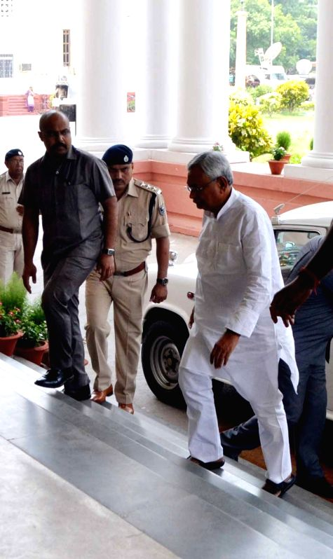 Bihar Chief Minister Nitish Kumar arrives to attend a Cabinet Meeting in Patna on June 2, 2017. - Nitish Kumar