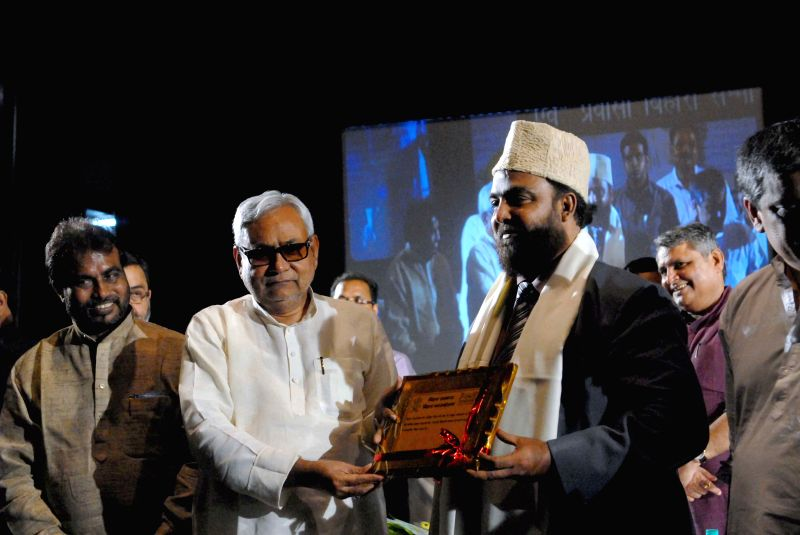 Bihar Chief Minister Nitish Kumar at the inauguration of the New Delhi chapter of the Bihar foundation at the Sri Ram Centre in Mandi House on Aug 8, 2015.