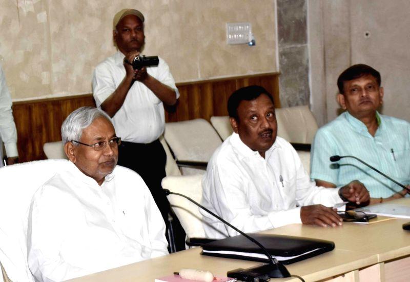 Bihar Chief Minister Nitish Kumar during a meeting in Patna, on April 7, 2016. - Nitish Kumar