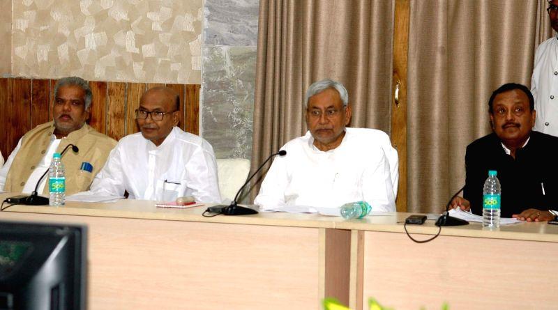 Bihar Chief Minister Nitish Kumar during a meeting in Patna on May 17, 2016. - Nitish Kumar