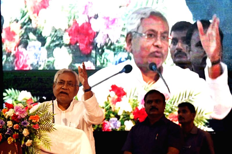 Bihar Chief Minister Nitish Kumar during a programme organised to pay tribute to Dr B.R. Ambedkar on his 126th birth anniversary in Patna on April 14, 2017. - Nitish Kumar