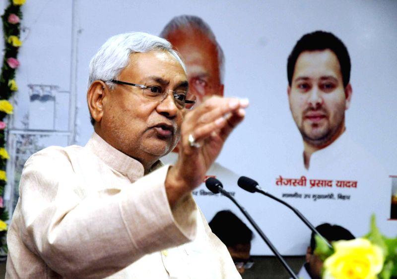 Bihar Chief Minister Nitish Kumar during a programme in Patna on May 11, 2017. - Nitish Kumar