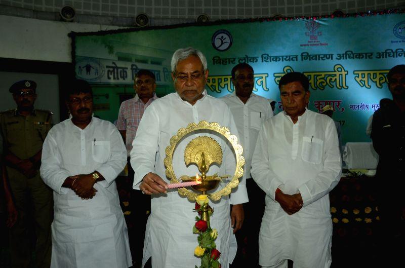 Bihar Chief Minister Nitish Kumar during a programme in Patna on June 5, 2017. - Nitish Kumar