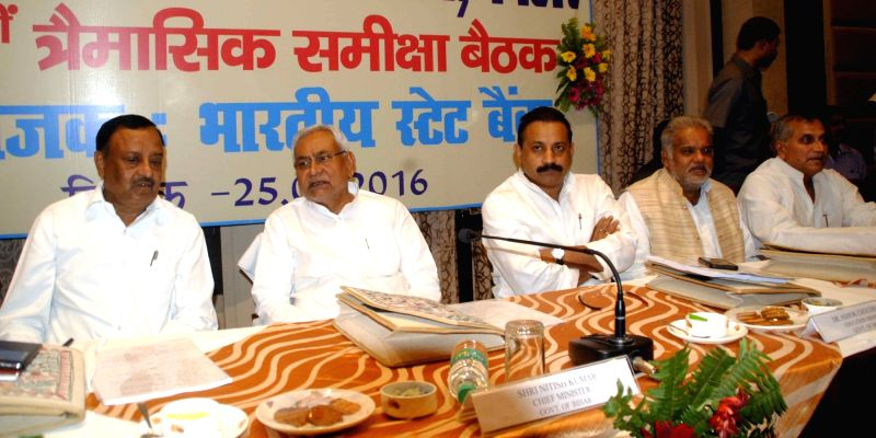 Bihar Chief Minister Nitish Kumar during a banker's meeting in Patna, on May 25, 2016. - Nitish Kumar