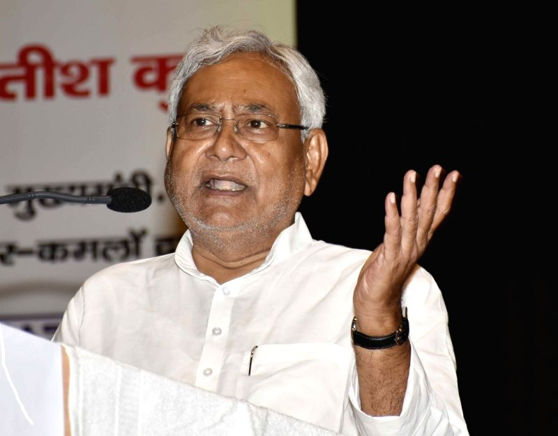 Bihar Chief Minister Nitish Kumar during a mango exhibition in Patna, on June 10, 2017. - Nitish Kumar