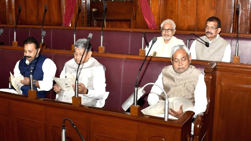 Bihar Chief Minister Nitish Kumar during the winter session of the Bihar assembly in Patna on Dec 4, 2015. - Nitish Kumar