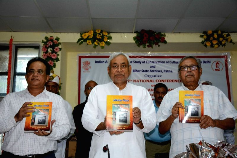 Bihar Chief Minister Nitish Kumar during the 49th National Conference on Immortal Memories: Conservation and Management in Patna on Sept 13, 2017. - Nitish Kumar