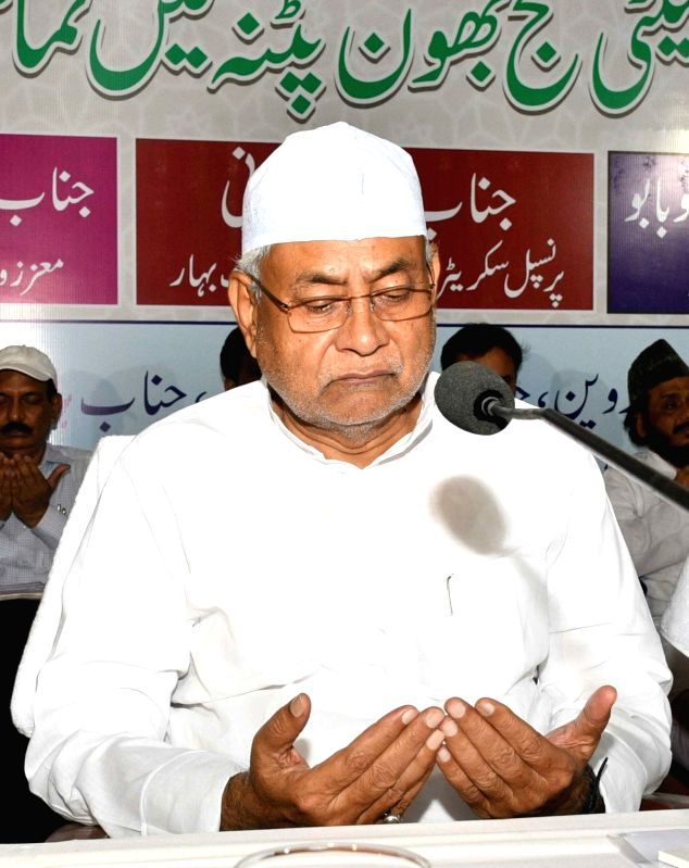 Bihar Chief Minister Nitish Kumar during the send-off ceremony of the first batch of Haj pilgrims at Haj Bhawan in Patna on July 13, 2018. - Nitish Kumar