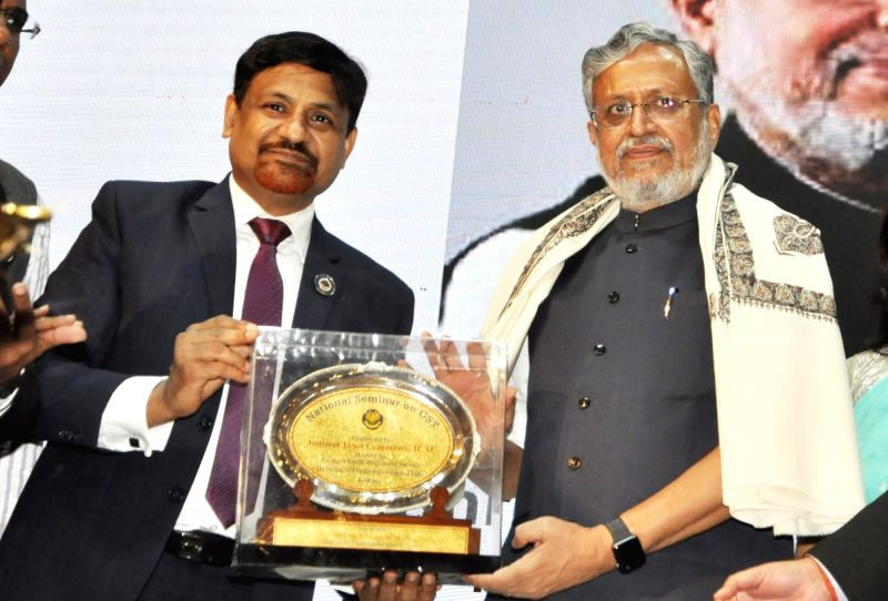 Bihar Deputy Chief Minister and GST Network panel head Sushil Modi with Institute of Chartered Accountants of India (ICAI) Indirect Taxes Committee (IDTC) Vice Chairman Sushil Kumar Goyal ... - Sushil Modi and Sushil Kumar Goyal