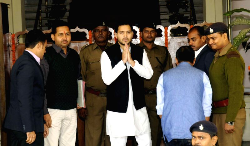 Bihar Deputy Chief Minister Tejashwi Yadav at the state assembly in Patna on Dec 4, 2015.