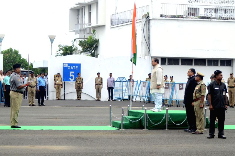 Bihar Governor Dr. D.Y. Patil who has been appointed as the acting Governor of West Bengal, following M.K. Narayanan's resignation arrives at N.S.C. Bose Airport in Kolkata on July 4, 2014. - C. Bose Airport