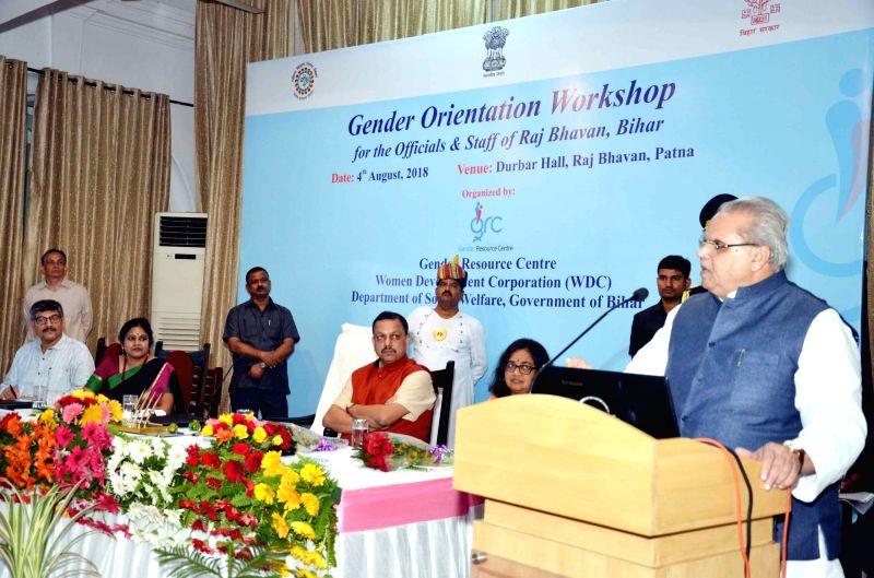 Bihar Governor Satya Pal Malik addresses during Gender Orientation Workshop in Patna on Aug 4, 2018. - Malik