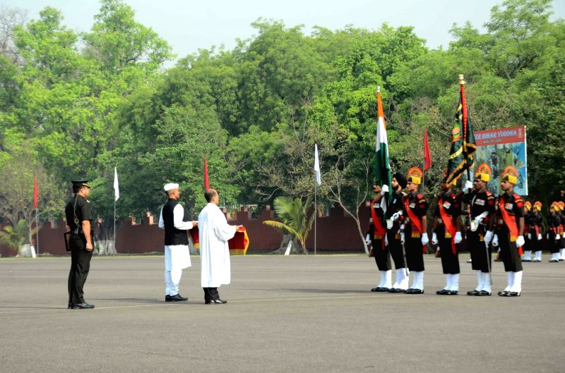 Bihar Regimental Center (BRC) recruits during their passing out parade in Danapur on April 29, 2017.
