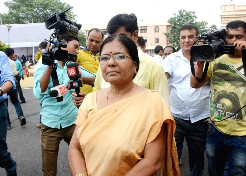 Bihar Social Welfare Minister Kumari Manju Verma arrives at the state legislative assembly, in Patna on July 26, 2018.
