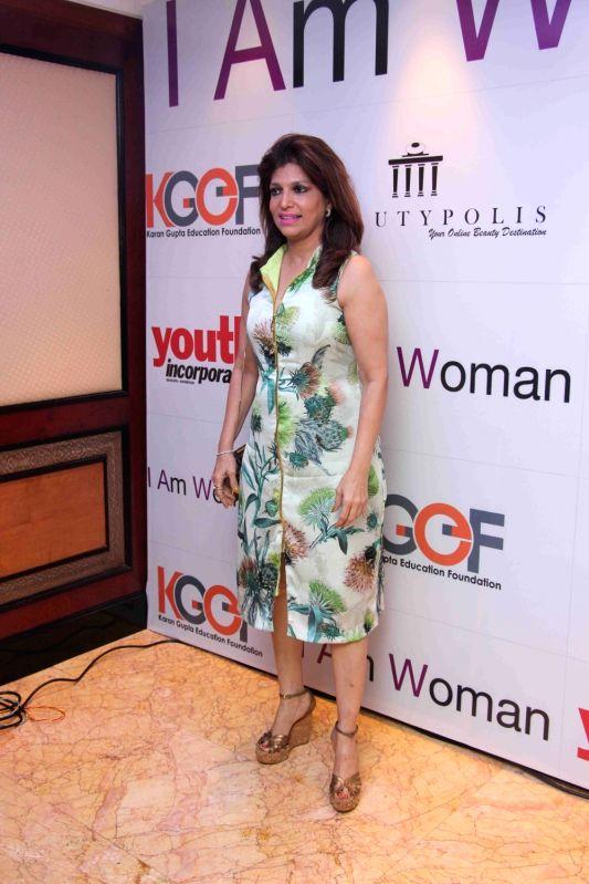 Bina Aziz, wife of ghazal singer Talat Aziz during I am Woman event, in Mumbai on April 5, 2016.