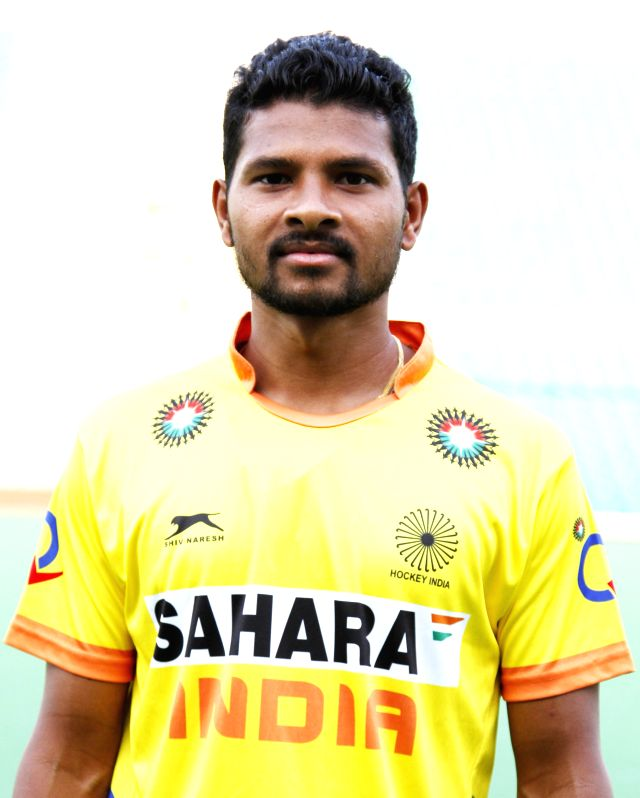 Birendra Lakra who was selected in the Indian Men Hockey Team for upcoming Hockey World Cup 2014 which is scheduled to begin on 31st May 2014 in The Hague, Netherlands.